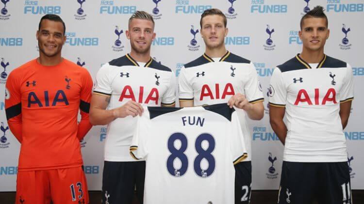 FUN88 tài trợ Tottenham