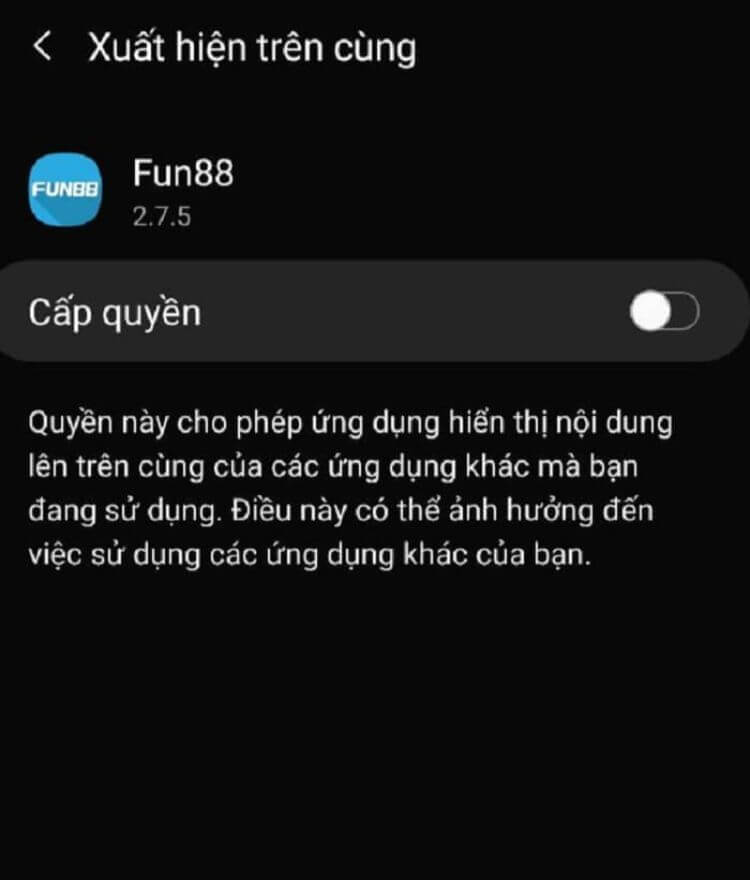 cấp quyền truy cập Android