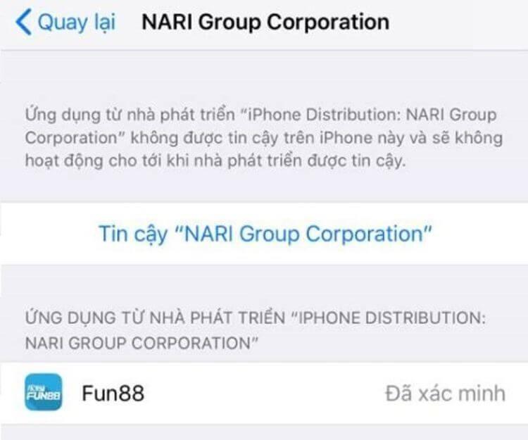 cấp quyền truy cập iOS
