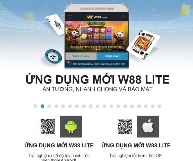 ứng dụng W88