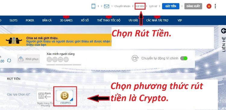 rút tiền điện tử crypto BK8