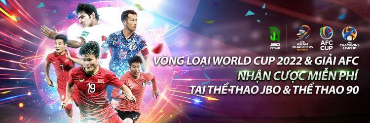 Khuyến mãi JBO – Thưởng cược thể thao vòng loại World Cup và giải AFC