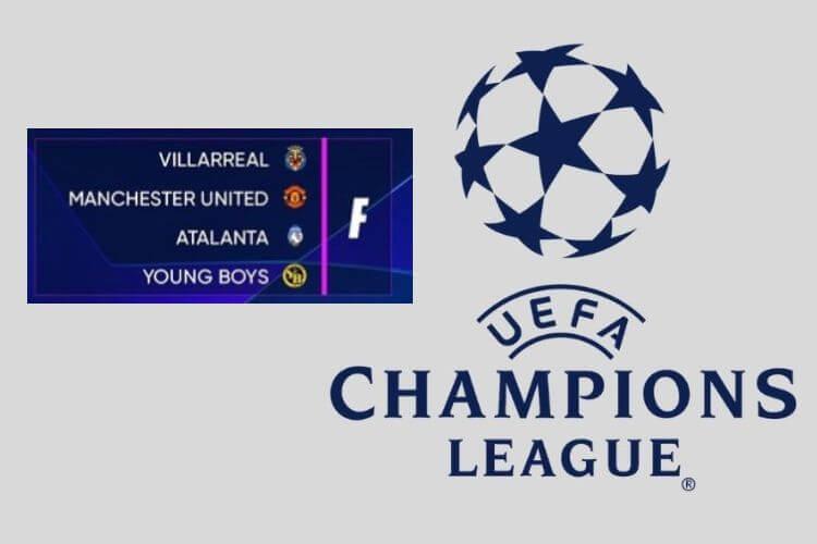bảng F Champions League 2021/22